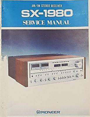 Pioneer SX-1980 Service Manual w/Schematics FREE SHIPPING!