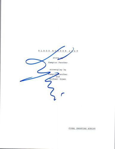 Sylvia Hoeks Signed Autographed BLADE RUNNER 2049 Full Movie Script COA