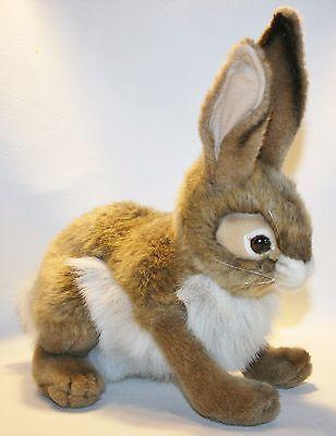 "HANSA Plush Bunny Hare Rabbit Nature Realistic Plush Stuffed Animal Toy 14"""