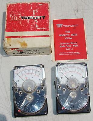 Triplett Ibm 310- C Analog Multimeters No Cables Untested Vintage