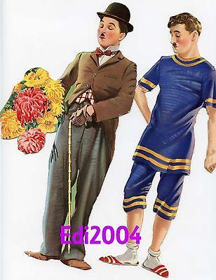 CHARLIE CHAPLIN & PAULETTE GODDARD Vintage ORIGINAL 1941 Paper Dolls SAALFIELD
