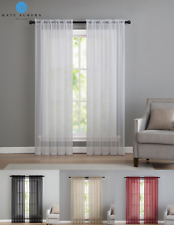 Kate Aurora Premium 2 Pack Sheer Voile Window Curtains - Assorted Colors & Sizes
