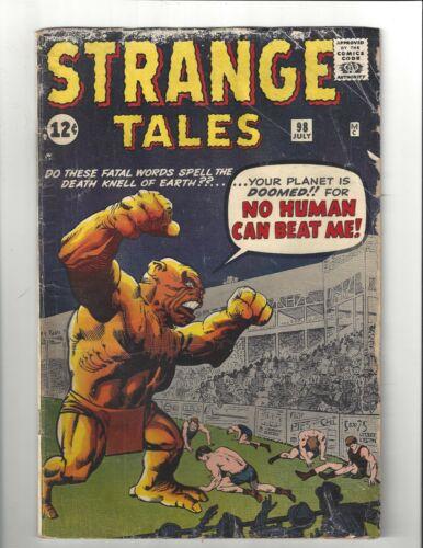 Strange Tales #98 1.5 (CRM) FR/GD Jack Kirby Art Marvel 1962 Silver Age