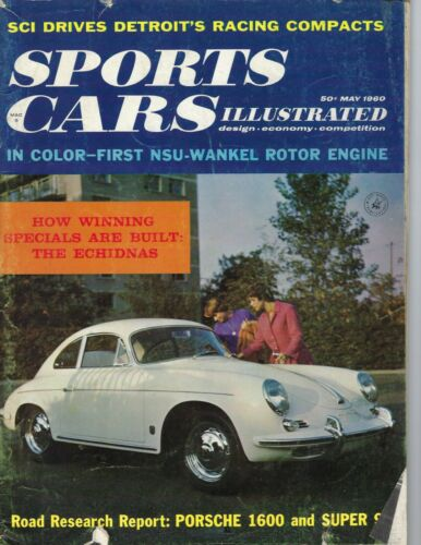 1960 MAY Sports Cars Illustrated magazine  Porsche 1600, The Echidnas FAIR