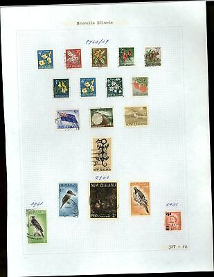New Zealand 1960-1967 Album Page Of Stamps #V21278