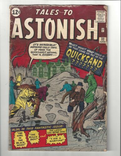 Tales to Astonish #32 1.5 (CRM) FR/GD Jack Kirby art Marvel 1962 Silver Age