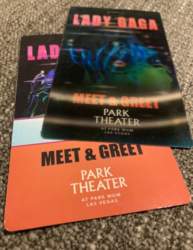 LADY GAGA ENIGMA EXTREMELY RARE 3D MEET & GREET CREDENTIAL