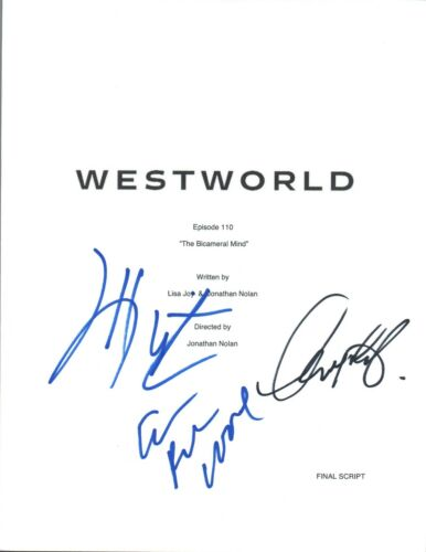 WESTWORLD Cast Signed Episode 1x10 Script Evan Rachel Wood Wright & Sarafyan COA