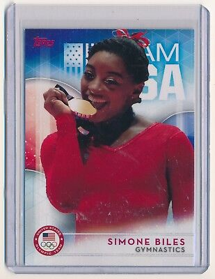 Simone Biles 2016 Topps U S  Olympic Team  38 Final Five Summer Olympics