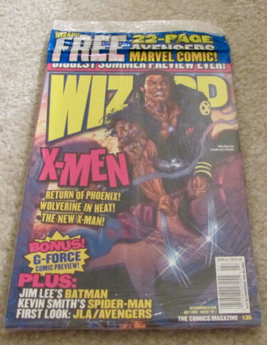 Wizard Magazine Issue 130 Sealed Promo Avengers Comic Kevin Smith Jim Lee More