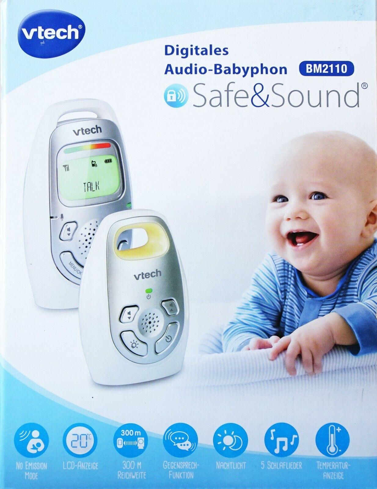VTech Digitales Audio-Babyphone BM2110 Safe&Sound mit LCD-Anzeige