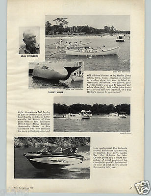 1967 PAPER AD Glastron Boat Corp Austin Texas Batman Batboat Mercruiser Motor