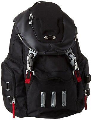 New Men's OAKLEY Bathroom Sink Backpack 23L Capacity 92356-001 Black Red Bag