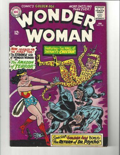 Wonder Woman #160 5.5 (CRM) FN- 1st Silver Age app. of Cheetah DC Comics 1966