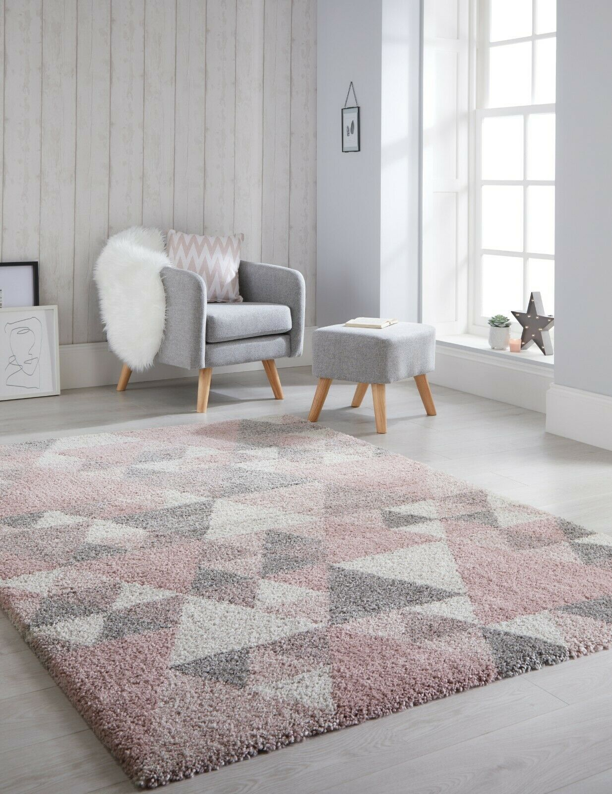 Shaggy Pastel Rugs Small Large Trendy Thick Pile Modern Carpet Soft Fluffy Rugs
