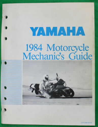 Original 1984 Yamaha Motorcycle Mechanic's Guide
