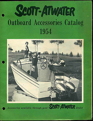 Vintage 1954 Scott-Atwater Outboard Boat Motor Accessories Catalog Bail-A-Matic