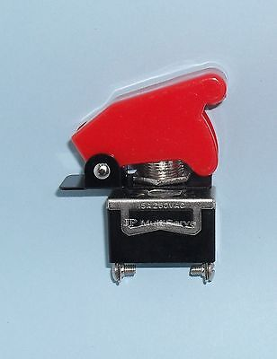 1 Spst Onoff Full Size Toggle Switch With Red Safety Cover