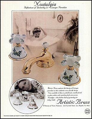 1978 Woman Bathing Bathtub Artistic Brass Porcelain vintage photo print ad ads68