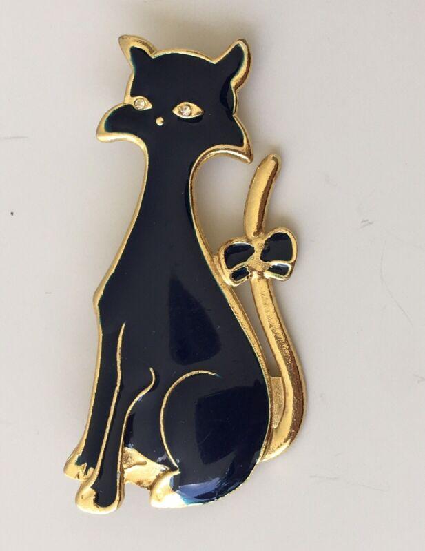 Vintage Cat Brooch Pin
