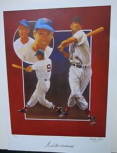 TED-WILLIAMS-AUTOGRAPHED-LITHOGRAPH-LIMITED-EDITION-BY-CHRISTOPHER-PALUSO
