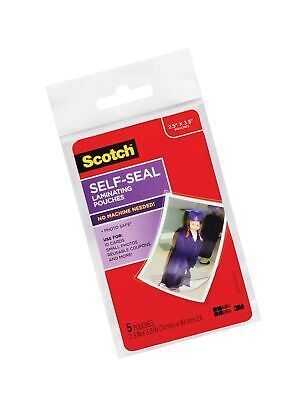 Scotch Self-sealing Laminating Pouches Gloss Finish 2.5 Inches X 3.5 Inches...