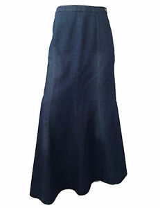 cotton denim length blue 42 quot skirt