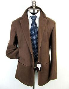 New-ISAIAH-CIARRAI-Herringbone-Goat-Suede-Leather-Sport-Coat-Jacket-52-42-L-NWT
