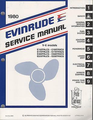 1980 Evinrude Outboard Motor V-6 Models Service Manual