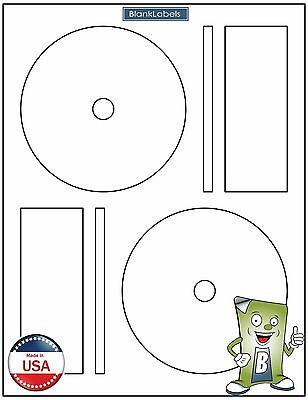 200 CD DVD Laser and Ink Jet Labels -Full Face Memorex Size! 100 Sheets!