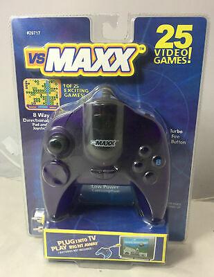 NEW vs MAXX PLUG & PLAY 25 VIDEO GAMES TURBO FIRE BUTTON JOYSTICK RACING POOL ++