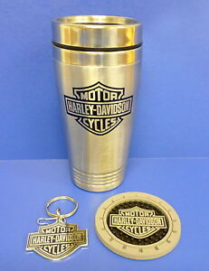 Harley-Davidson Bar & Shield Logo Travel Pax Gift Set  Mug, Key Chain, Coaster
