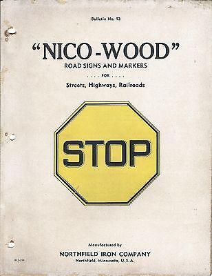 Mro Brochure - Northfield Iron - Nico-wood - Road Raiway Signs - C1942 Mr46