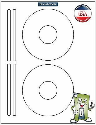 - 200 CD/ DVD Laser and Ink Jet Labels - Template 5931, 8931, 8692 -100 Sheets!