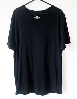 Michael Kors Mens Jet Black Soft Modal & Cotton Short Sleeve Tshirt Flawless M