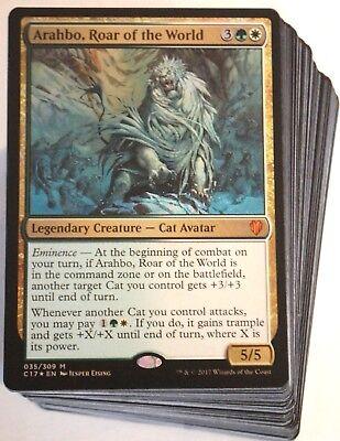 (***Custom Commander Deck*** Arahbo, Roar of the World MINT EDH Cats Magic Cards)