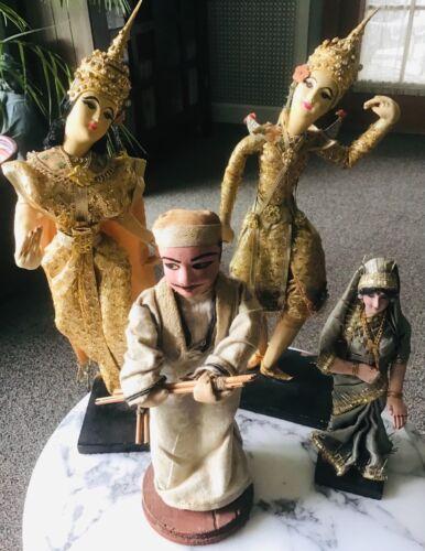 LOt OF 4 Vintage Handmade Tibet Buddhist Hindu Ethnic Dolls Free Shipping!