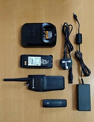 1x Motorola DP3400 Digital VHF Radio, charger, accessories - EXCELLENT CONDITION