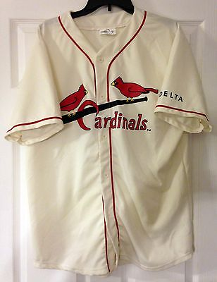 Cardinals Red Throwback Jersey - RED SCHOENDIENST JERSEY sga cardinals st. louis XL 2 throwback promo item