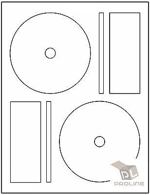 500 CD DVD Laser and Ink Jet Labels -Full Face Memorex Size! 250 Sheets!