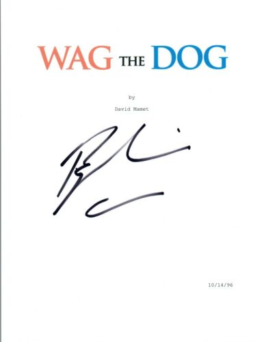 Barry Levinson Signed Autographed WAG THE DOG Movie Script Screenplay COA