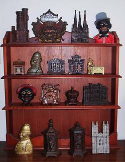 COLLECTION OF ANTIQUE MONEY BOX TOYS FROM ENGLAND