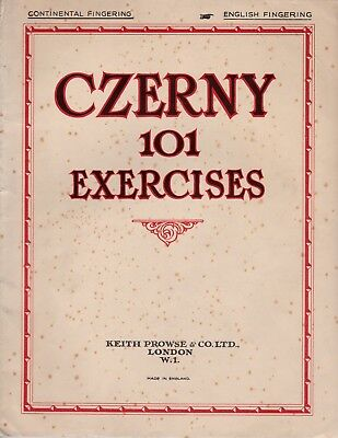 Vintage CZERNY 101 EXCERCISES FOR PIANO - by K. Prowse & Co Ltd (USED)