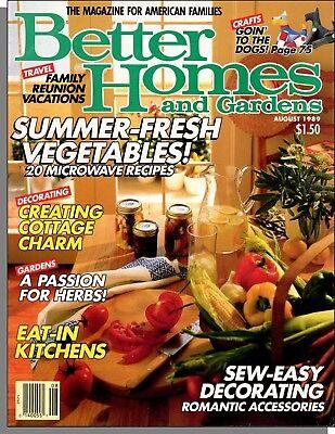 Better Homes and Gardens - 1989, August - Summer-Fresh Vegetables, Garden