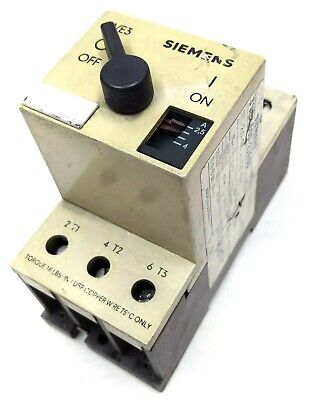 Siemens Electric 3ve3 000-2ja00 Circuit Breaker Motor Protector 25-4a - 48a