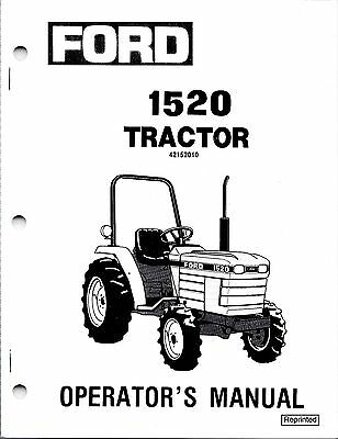Ford 1520 Tractor Operator Manual 42152010