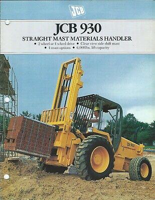 Fork Lift Truck Brochure - Jcb - 930 - Rough Terrain - C1990 Lt521
