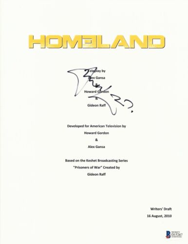 DAMIAN LEWIS SIGNED HOMELAND FULL SCRIPT SCREENPLAY AUTHENTIC AUTO BECKETT BAS