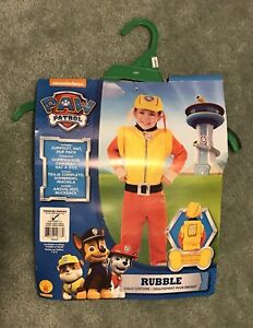 Toddler Rubble Paw Patrol costume