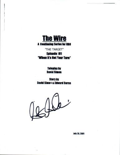 Seth Gilliam Signed Autograph THE WIRE Pilot Script COA